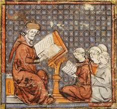Woodcut of the medieval university