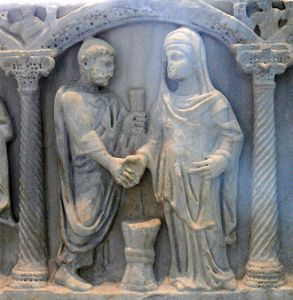Depiction of Roman Marriage
