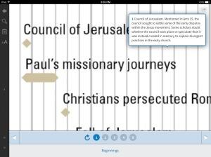 Logos Screen Shot of Timeline