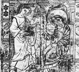 Image of Marcion (Left) with the Apostle John