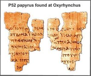John Ryland's Fragment, P52