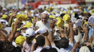 Pope Francis Amidst the Crowds