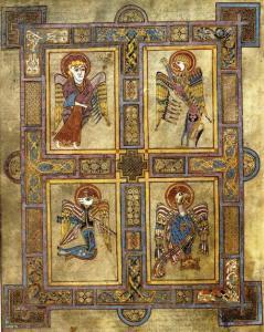 Los cuatro evangelistas (Libro de Kells)