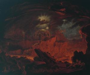 The Fallen Angels Entering Pandemonium, from 'Paradise Lost', Book 1 ?exhibited 1841 by John Martin 1789-1854