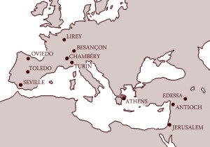 Major Roman Cities Map