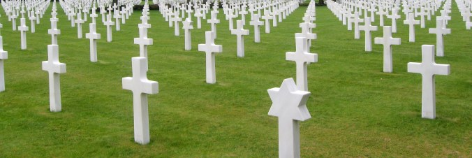 American Servicemen Laid to Rest at the Omaha Beach Cemetery, Normandy, France