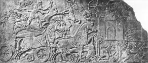 Relief of Assurnasirpal II Killing Lions