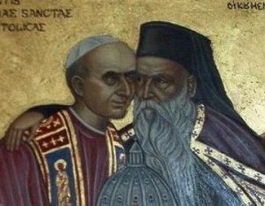Pope Paul VI and Patriarch Athenagoras I