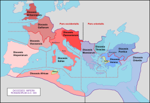 Dioceses of Roman Empire, c. 300